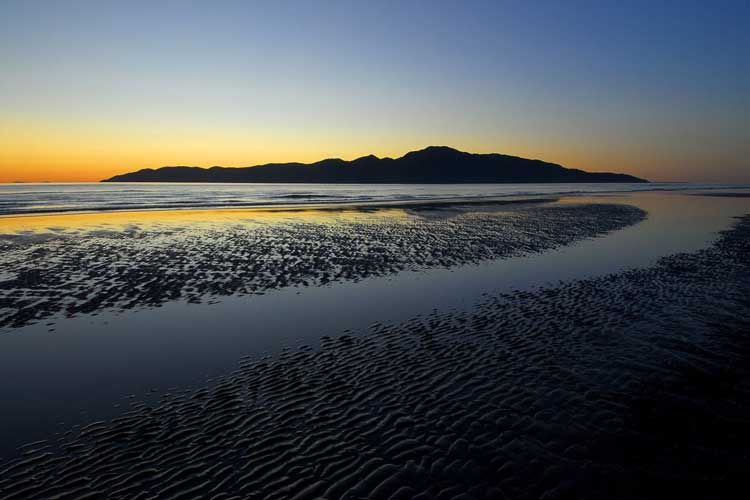 Kapiti Island as viewed from Paraparaumu Beach